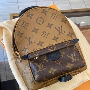 Louis Vuitton Mini reverse Palm Spring backpack